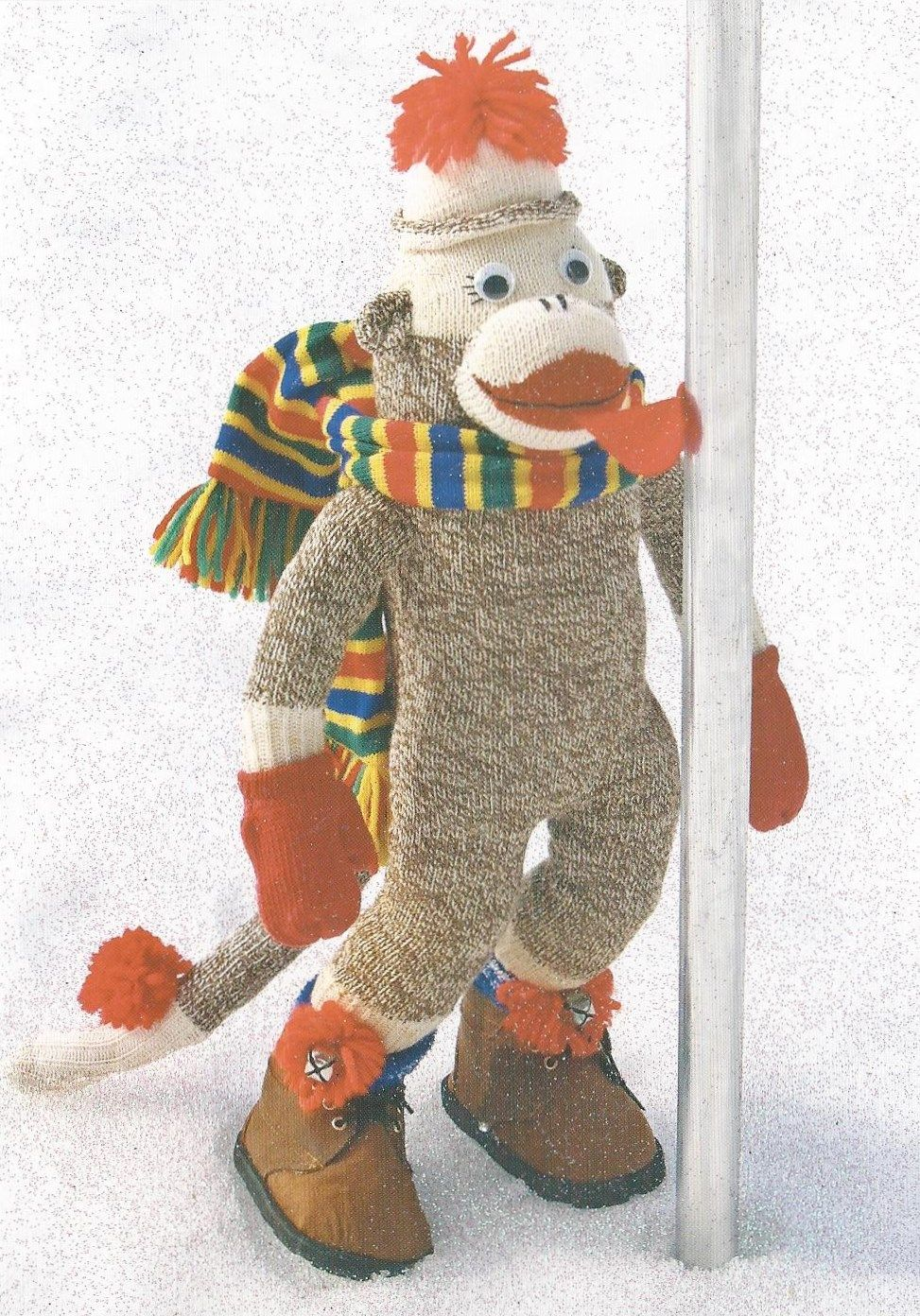 Sock Monkey Christmas Card from RR (Holiday Cards) Postcrossing ...
