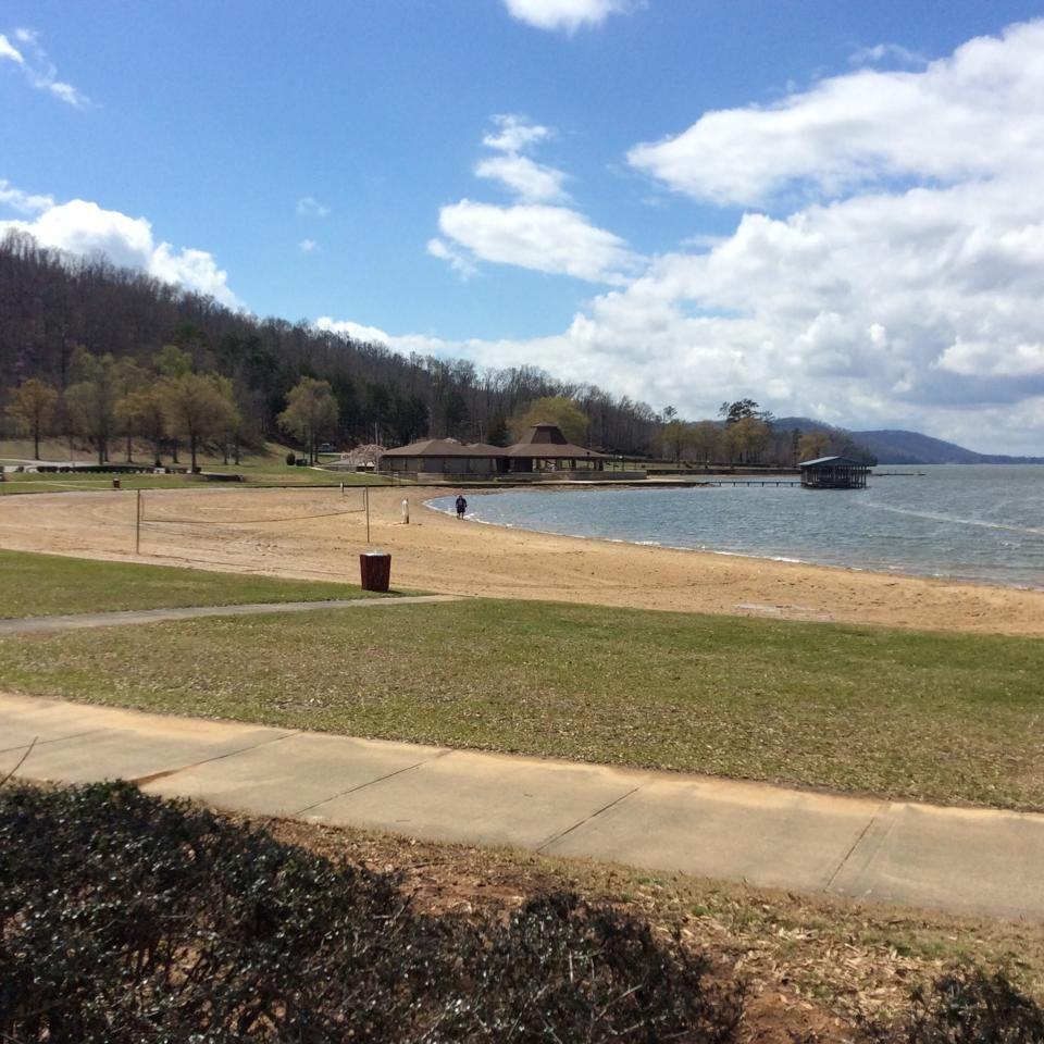 Beach Area At Alabama S Lake Guntersville State Park 3 13 16 Slj