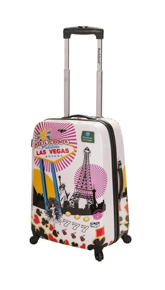 Vegas Carry On Luggage With Spinner Wheels Interior Mesh