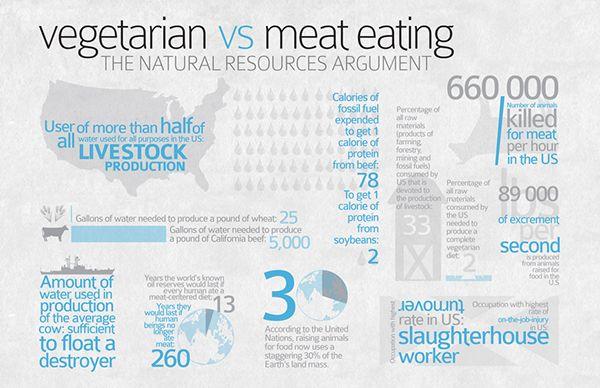 Veggie vs Meat Infographic on Behance