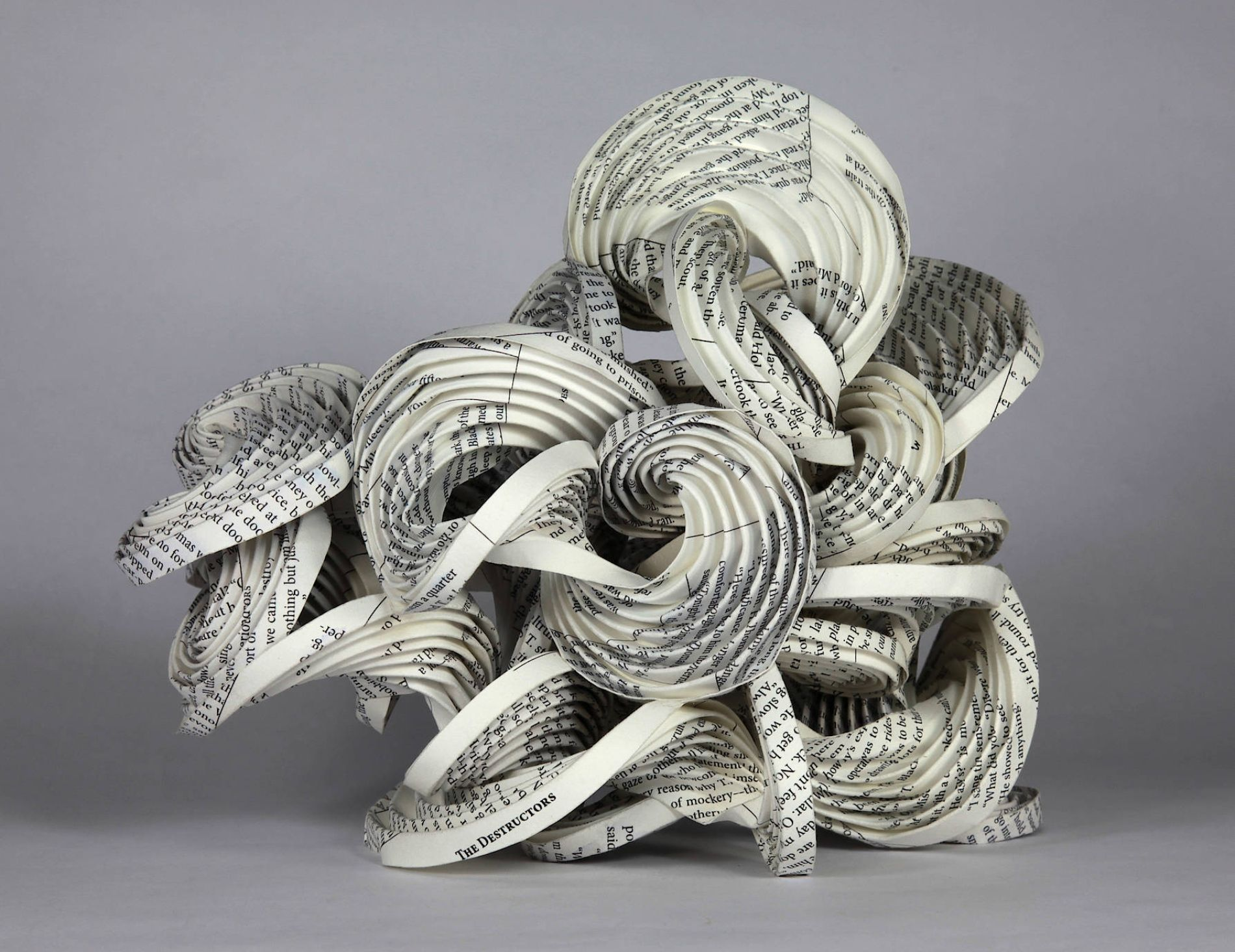 "From the series ""Destructors"" 2013, a paper #origami sculpture by Martin and Erik Demaine"