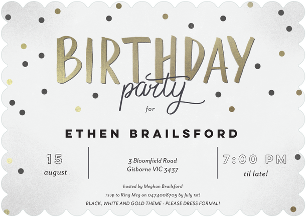 Click to zoom in ethens 30th birthday black gold and white click to zoom in stopboris Choice Image