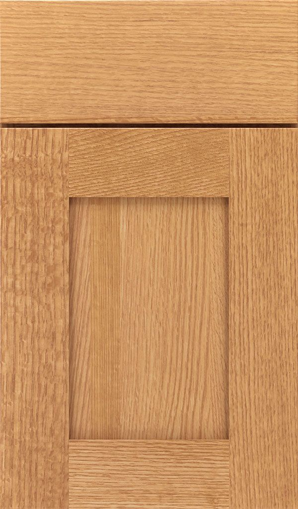 Artisan Quartersawn Oak Shaker Cabinet Door In Natural Cabinets