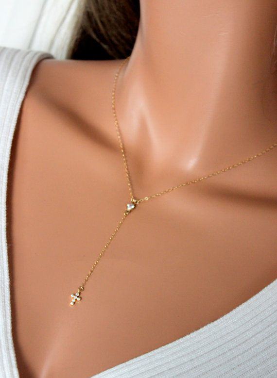 Delicate Rosary Necklace Gold Filled Or Sterling Silver Small Dainty Tiny Crystal Tiny Cross Necklaces Rosarie Tiny Cross Necklace Cross Necklace Gold Necklace