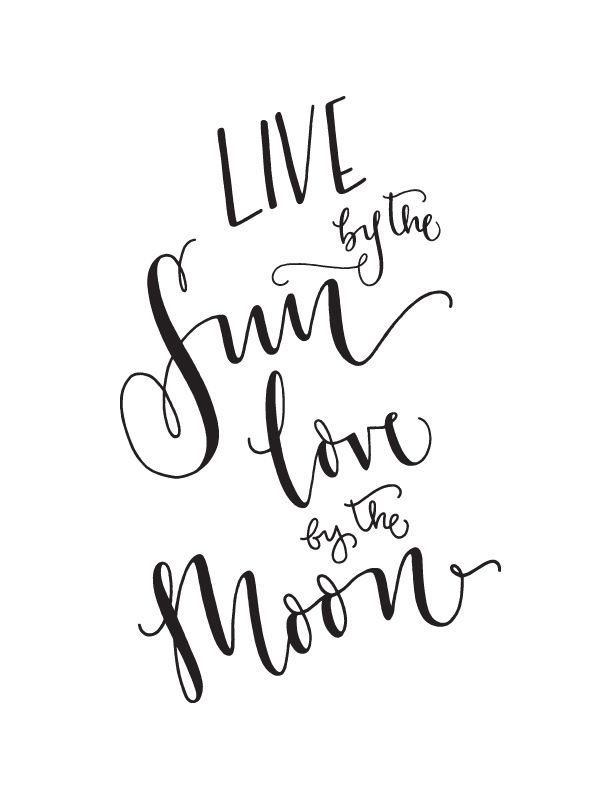 Download Art Print - 'Live by the Sun / Love by the Moon ...