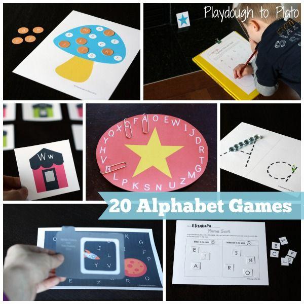Alphabet Mega Pack  Printable Alphabet Games  Playdough To