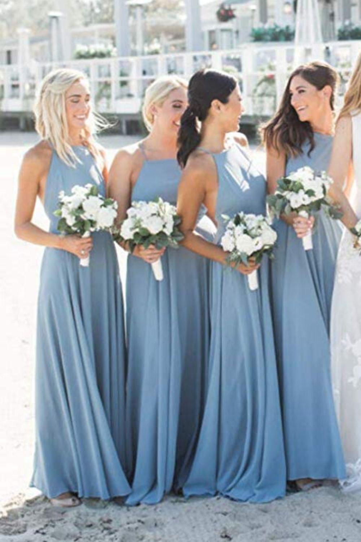 Beautiful Blues Stunning Watercolors Makes This Summer Wedding Shine Wedding Bridesmaid Dresses Wedding Bridesmaids Blue Bridesmaid Dresses [ 4200 x 2800 Pixel ]