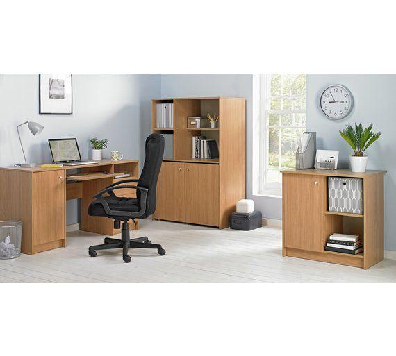 buy home calgary hideaway corner desk oak effect at. Black Bedroom Furniture Sets. Home Design Ideas
