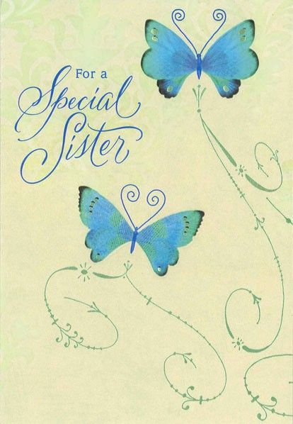 Butterflies For A Special Sister Birthday Card