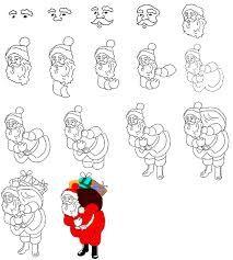 Картинки по запросу как красиво нарисовать деда мороза ...