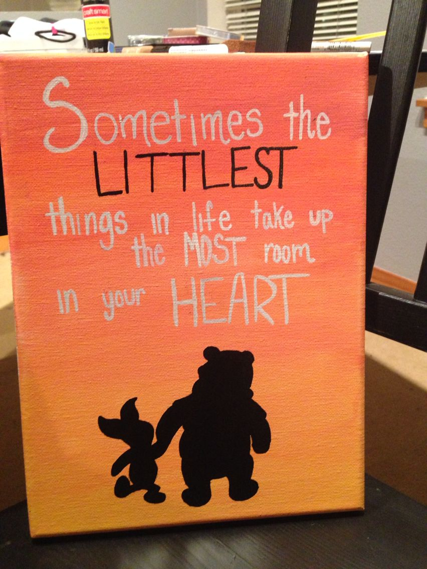 Winnie the Pooh inspired sorority canvas! Perfect for big ...