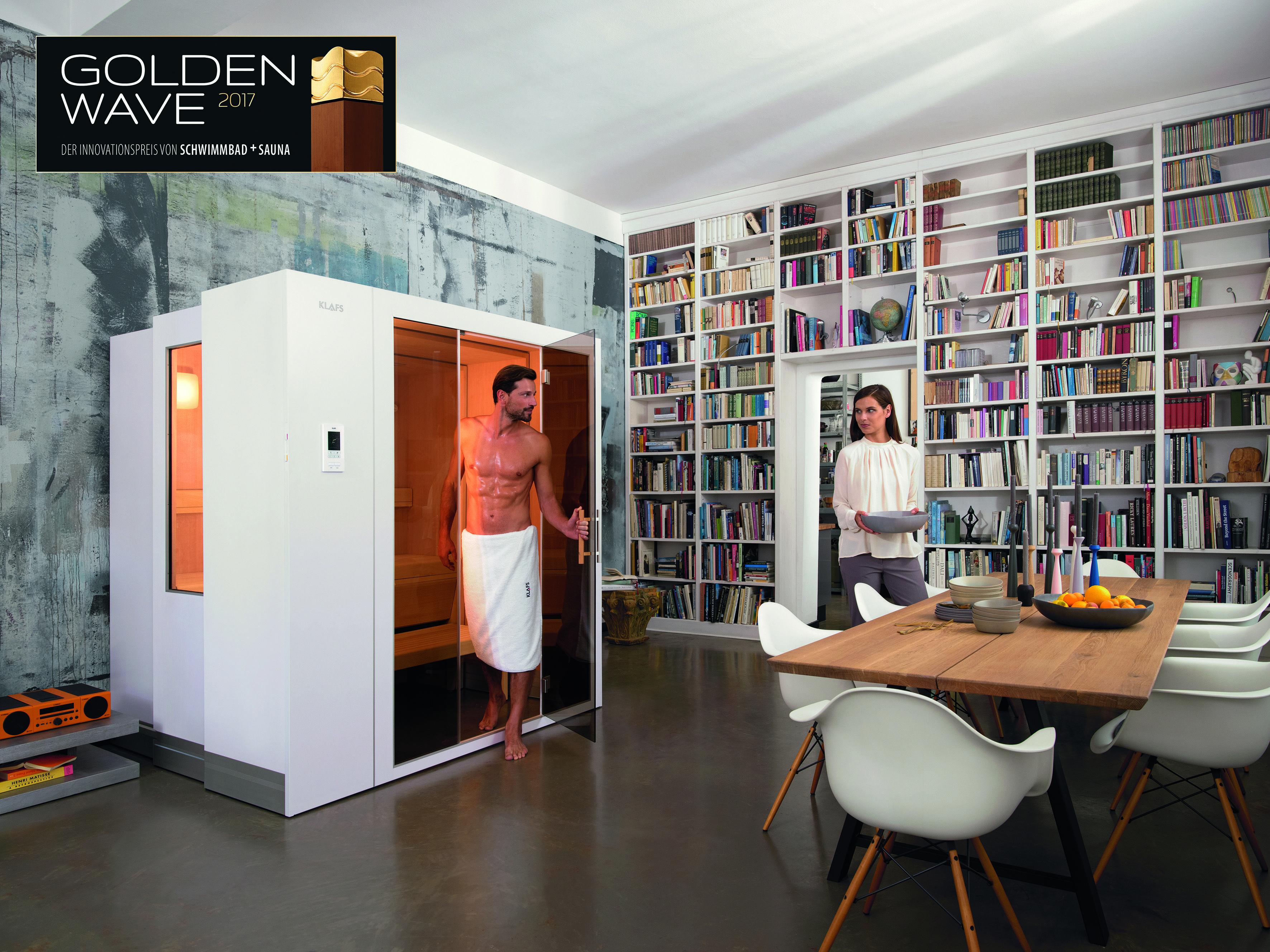 """Die #SaunaS1 ist und bleibt die herausragende #Sauna-#Innovation unserer Tage: Die #Pool- und #Wellness-Experten in der Jury des Innovationspreises """"Golden Wave"""" wählten sie auf den 1. Platz in der Kategorie """"#Sauna/#Dampfbad/#Infrarot"""". Damit hat die revolutionäre, raumsparende #SaunaS1 bereits 8 wichtige Auszeichnungen errungen. Mit dem """"Golden Wave"""" zeichnet #SCHWIMMBAD+#SAUNA, Deutschlands führendes #Pool- & #Wellness-Magazin, alle 2 Jahre herausragende Produkte, Techniken und Verfahren…"""