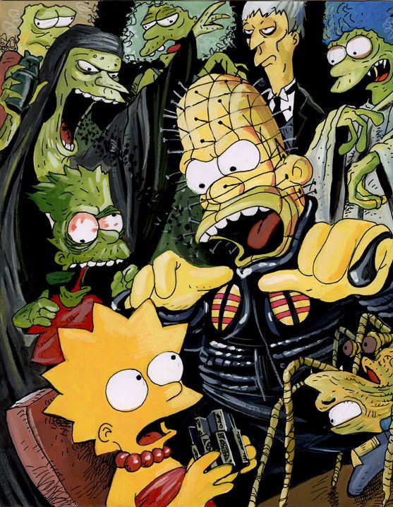 Pinhead And Co By Jlfletch Simpsons Art Simpsons Drawings Simpsons Treehouse Of Horror