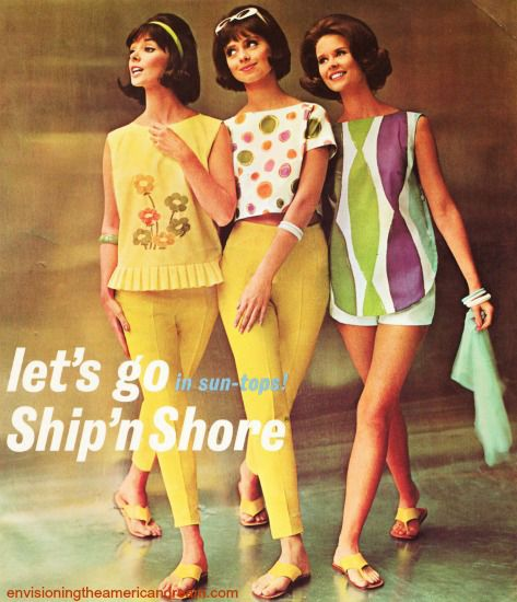 3dbf5d75ec496 Vintage Womens Fashion Ad - Ship  n Shore Clothing 1962