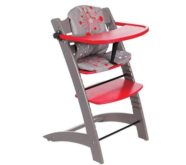 Badabulle Chaise Haute Evolutive Taupe Rouge Chaise Haute Chaise Haute Evolutive Chaise Haute Bebe