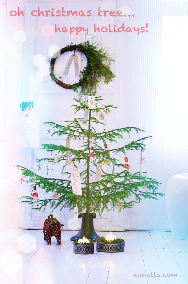 joulukortti, joulukuusi