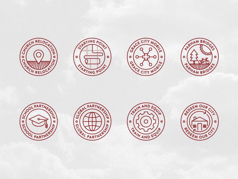 Grace Project badges by Paul Tynes via dribbble