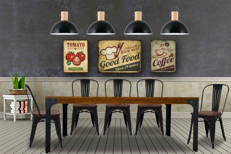 Mesa Comedor Industrial Grande 200 cm #deco #estiloindustrial ...