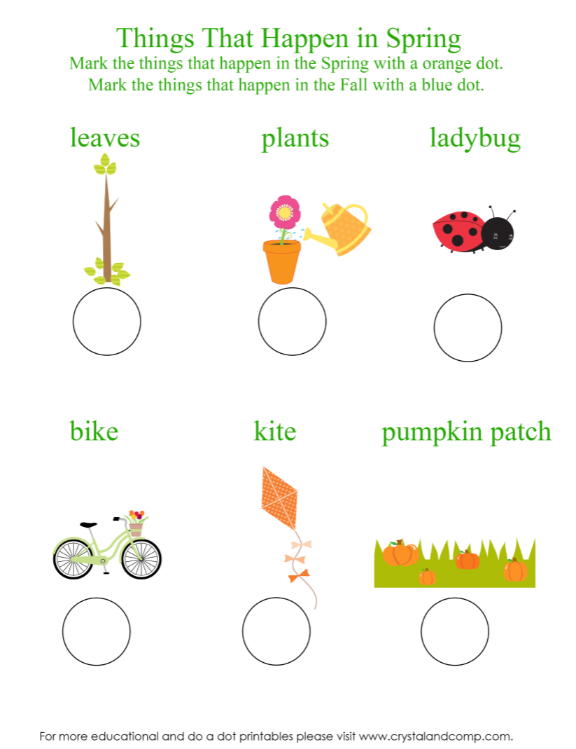 Spring Do A Dot Printables For Preschoolers Do A Dot Preschool Worksheets Preschool Printables [ 1069 x 823 Pixel ]