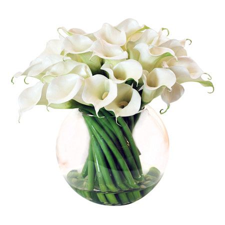 I pinned this Faux Calla Lily Arrangement I from the Winward event at Joss and Main!