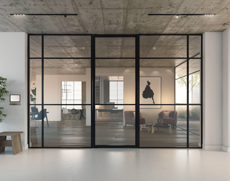 Crittall Style Doors Portapivot Glass Partition Crittall Glass Doors Interior