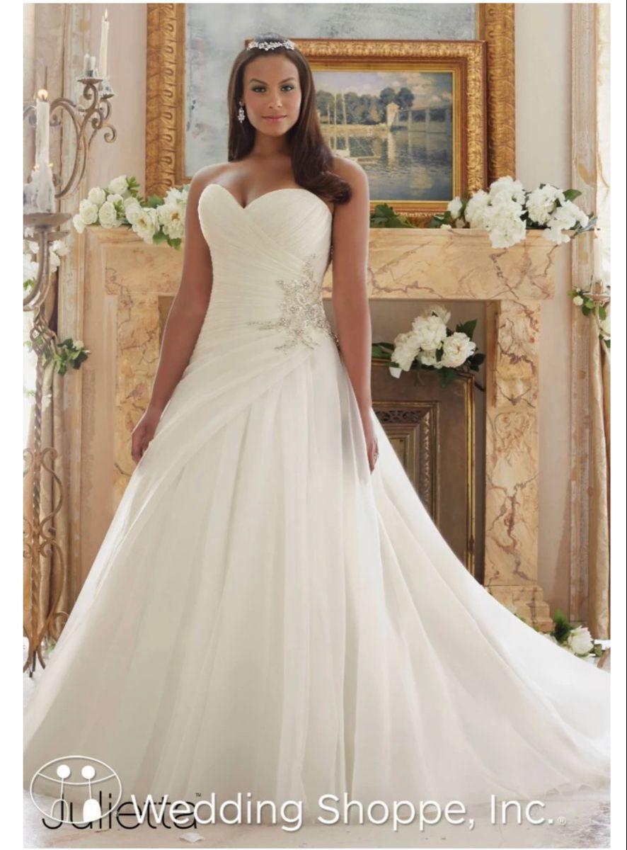 Julietta By Mori Lee Plus Size Wedding Dresses Kasmira 3238 In 2020 Bridal Gowns Tea Length Wedding Dress Wedding Dress Long Sleeve [ 1200 x 886 Pixel ]