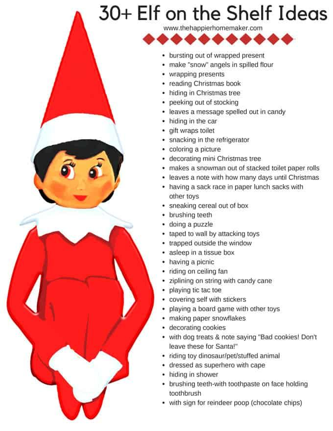 Free printables with Elf on the Shelf ideas and a retirement letter. Whether you are looking for funny nightly ideas for where to move your elf or ready to retire it from service, these printables have you covered!