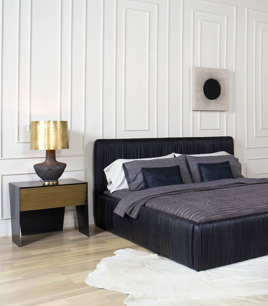 Kelly Wearstler Souffle Bed and Gallant Nightstand