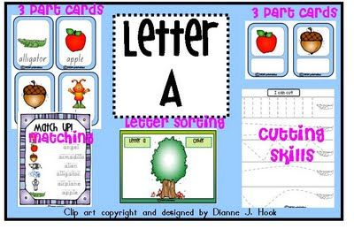 tons and tons of letter activities, worksheets, songs ect  http://thoughtsofesme.blogspot.com/2011/09/i-canletter-and-reality-check.html