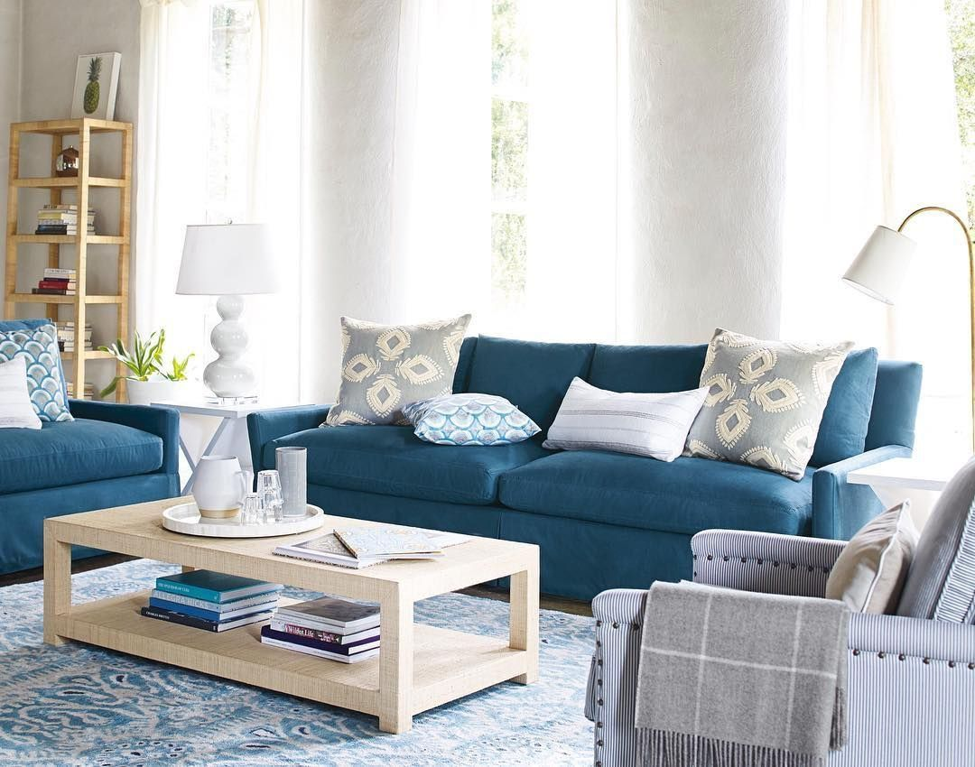 Astonishing Ikea Kivik Blue Sofa In 2019 Blue Living Room Decor Theyellowbook Wood Chair Design Ideas Theyellowbookinfo