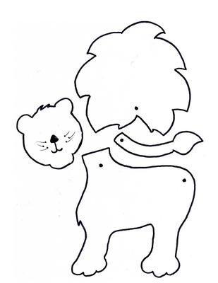 Leeuw print! | Articulados, marionetas, dedoches | Pinterest ...