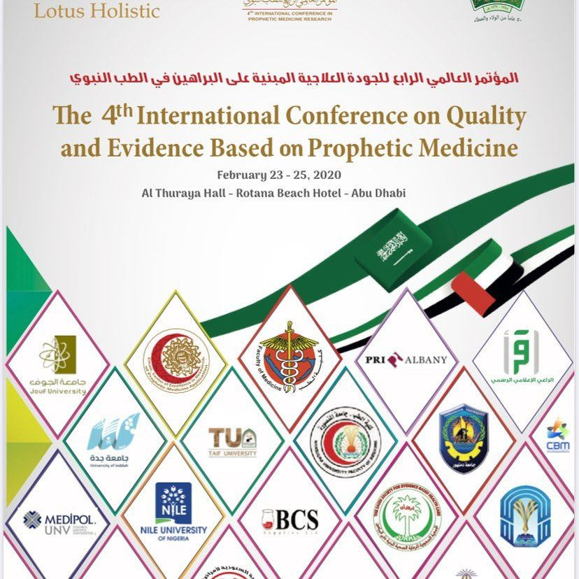4th international conference on quality and evidence based prophetic medicine Dhabi and 24th February 24 CMEs 3 day event first time in history zayed international award...