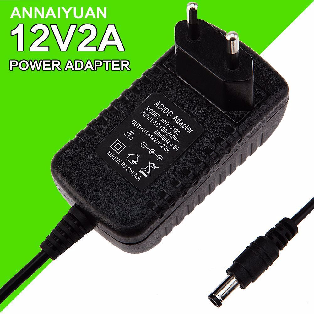 1pcs 12v2a Ac 100v 240v Converter Adapter Dc 12v 2a 2000ma Power Supply Eu Plug 5 5mm X 2 1 2 5mm For Led Cctv In 2020 Adapter Converter Power Supply