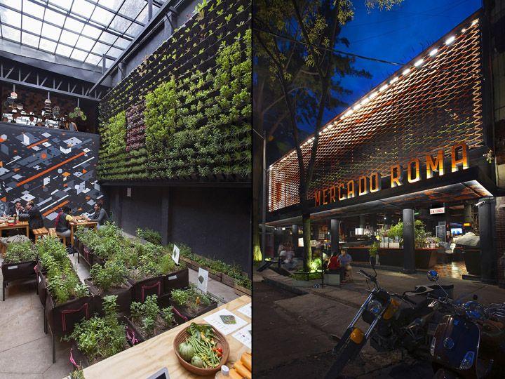Mercado roma by rojkind arquitectos cadena y asociados mexico city mexico retail design for Best restaurants in garden city