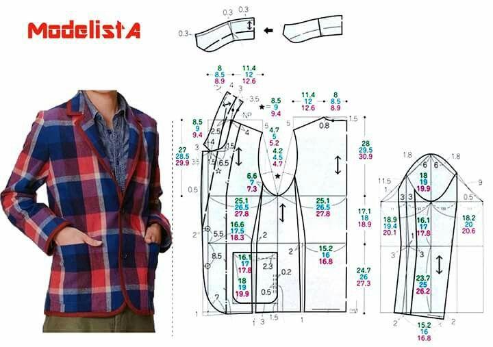 Blazer | Ropa masculina | Sewing, Pattern y Sewing patterns