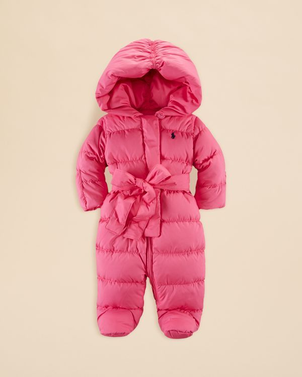 2477a9e3e Ralph Lauren Infant Girls  Channel Quilted Snowsuit - Sizes 3-9 ...