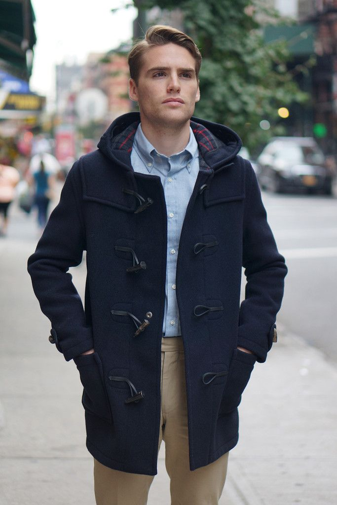 Gloverall Slim Duffle Coat Navy by Gloverall | Epaulet New York ...