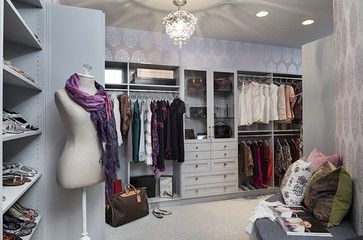 Forest Hills Residence - Her Closet - contemporary - closet - nashville - Beckwith Interiors