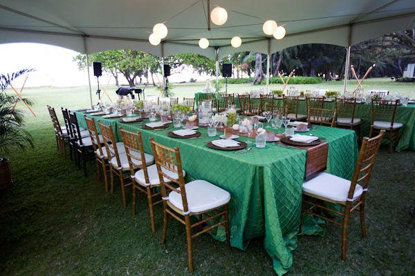 Aqui o verde em versão mais marcante. Ficou lindo com a madeira escura das cadeiras!