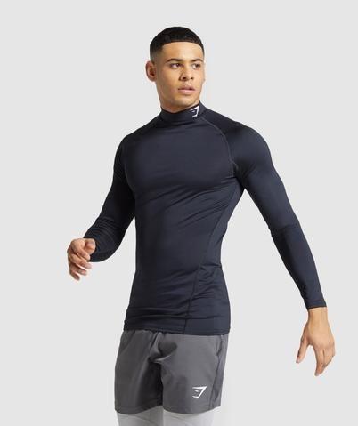Gymshark Element Baselayer Long Sleeve High Neck T-shirt - Black
