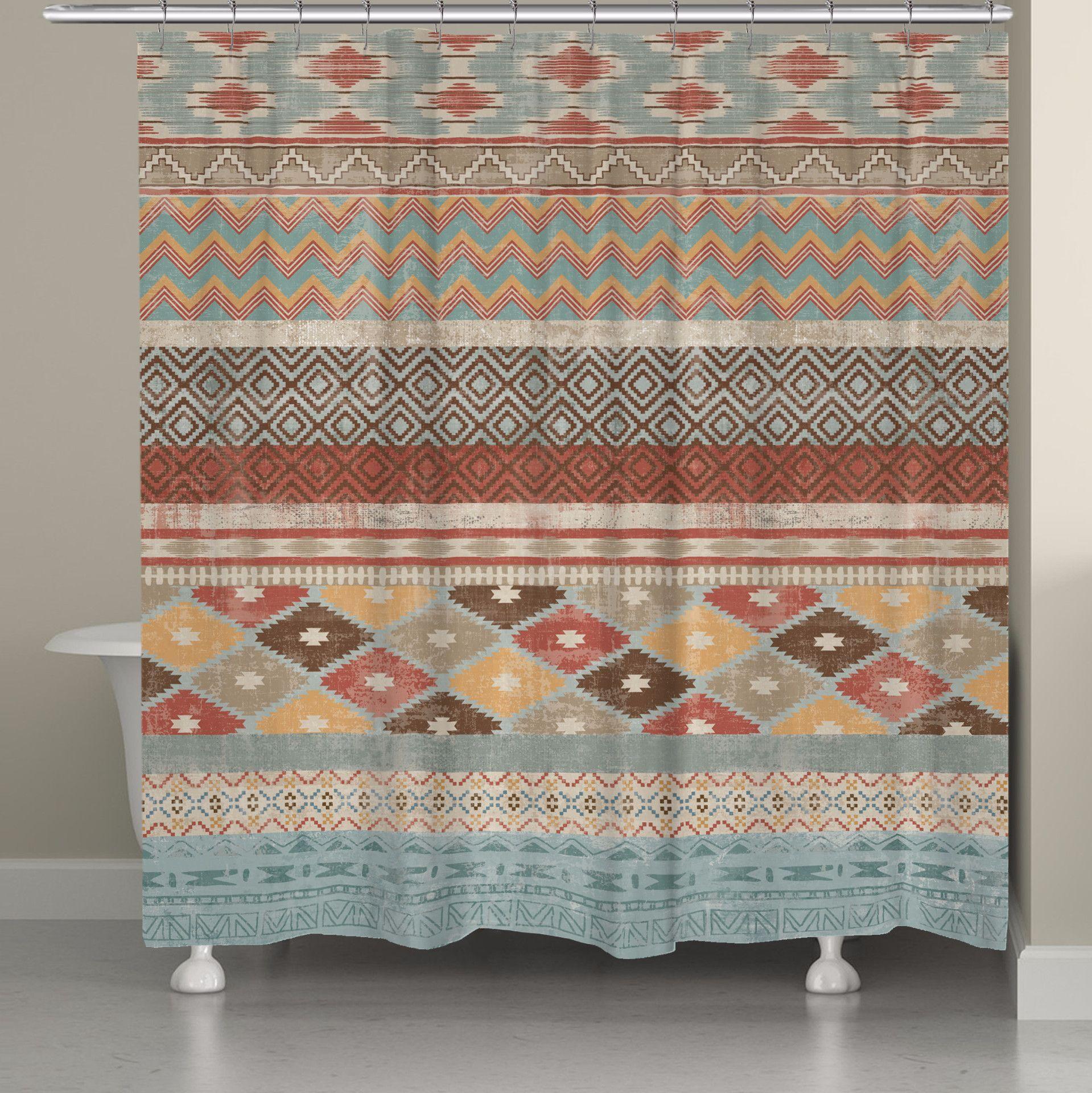 Navajo Stripe Multi Shower Curtain Curtains Striped Shower