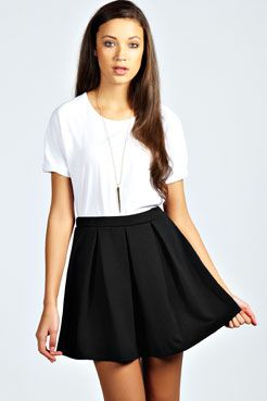 Boohoo Black Skater Skirt Clothing, Shoes & Accessories