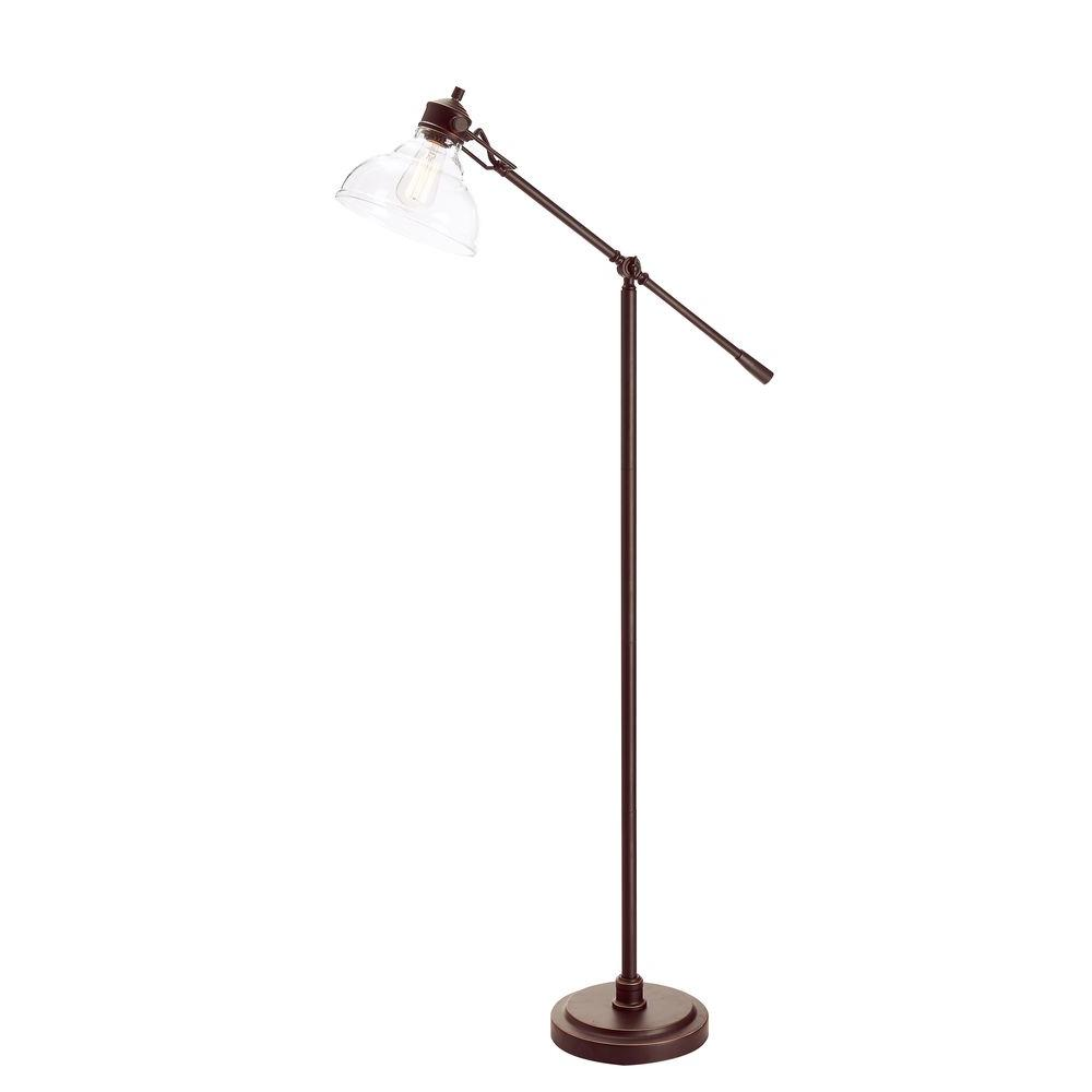 Alsy 54 5 In Bronze Counter Balance Floor Lamp With Glass