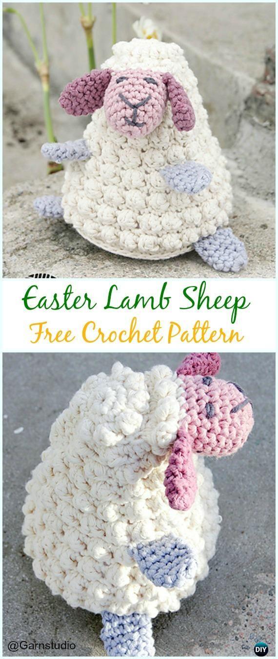 Crochet Bobble Easter Lamb Amigurumi Free Pattern - #Amigurumi ...