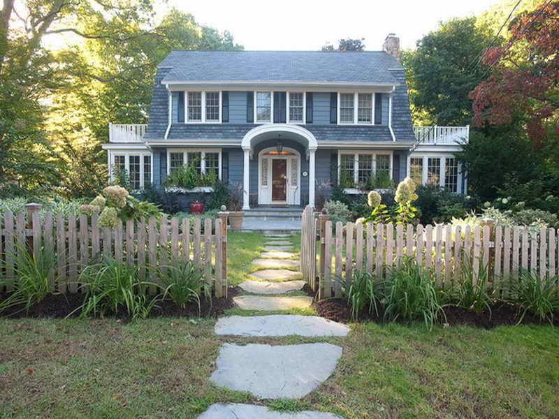 Landscape Design Front Of Colonial House Part - 23: Dutch Colonial House Plans: Dutch Colonial House Plans With Wooden .