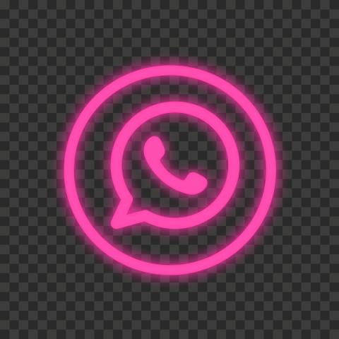Hd Pink Neon Outline Whatsapp Wa Round Circle Logo Icon Png In 2021 Circle Logos Logo Icons Neon Pink