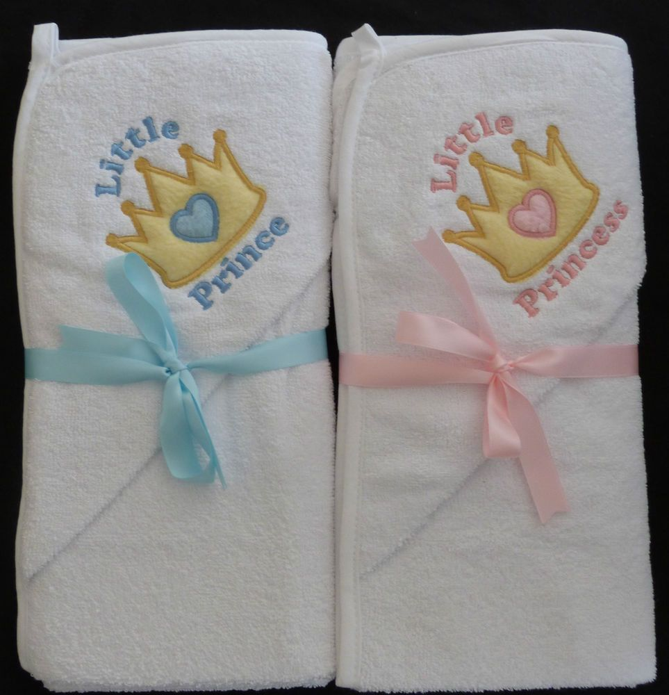 Little prince princess crown personalised baby hooded towel boy little prince princess crown personalised baby hooded towel boy girl cute bath negle Image collections