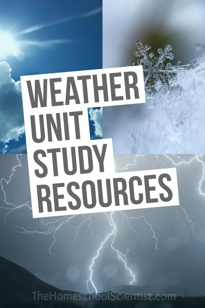 Weather Unit Study Resources