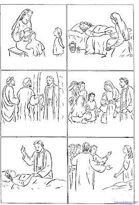 Dibujos Cristianos Para Colorear Dibujos De La Hija De Jairo Para Color La Hija De Jairo Historias De La Biblia Para Niños Actividades De La Escuela Dominical