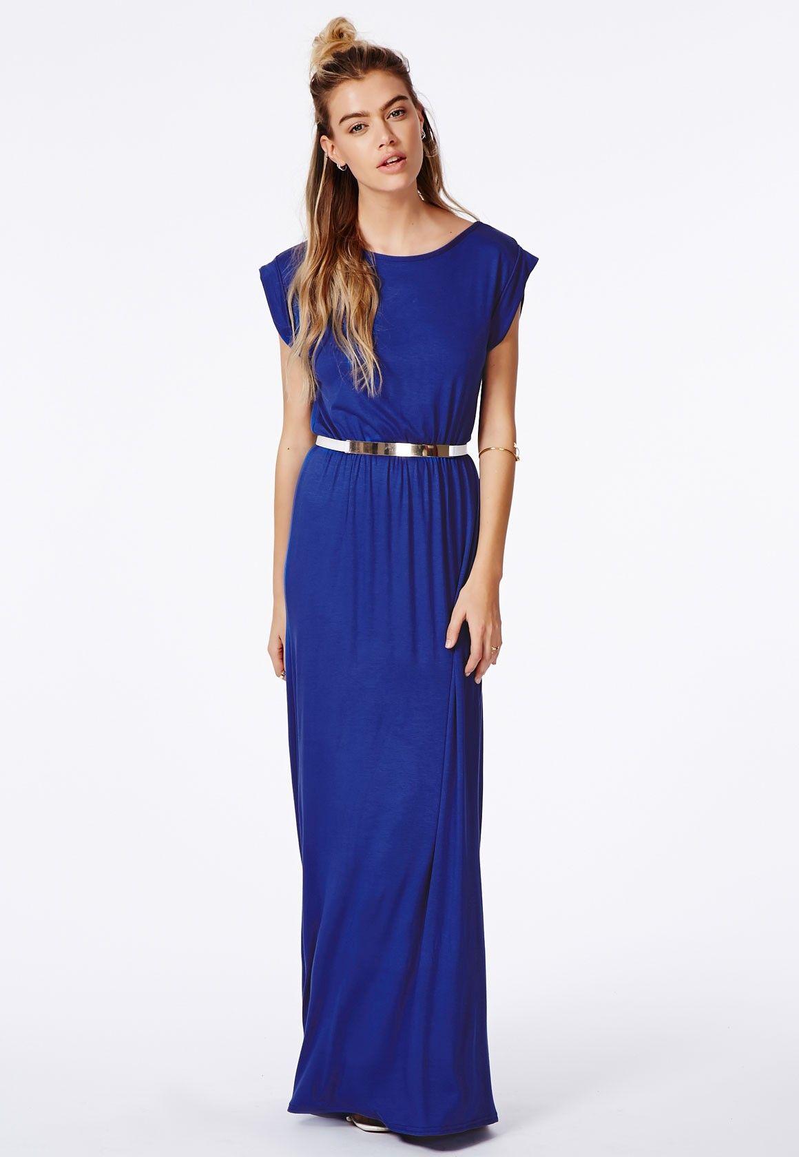 Petrol blue maxi dress